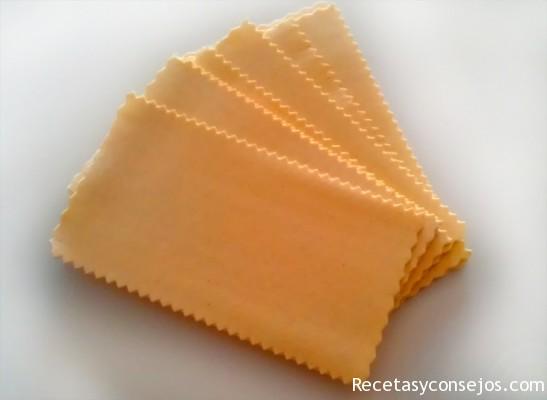 laminas de pasta para lasaña